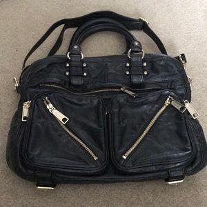 Rebecca Minkoff black leather bag satchel
